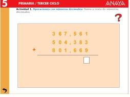 números decimales 5.1