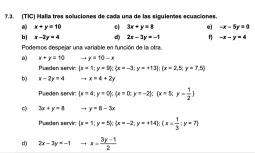 sistema de ecuaciones 1eso