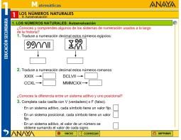 AUTOEVALUACION NUMEROS NATURALES 1 ESO