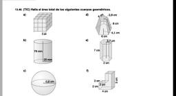 áreas y volúmenes cuerpos geométricos 2eso