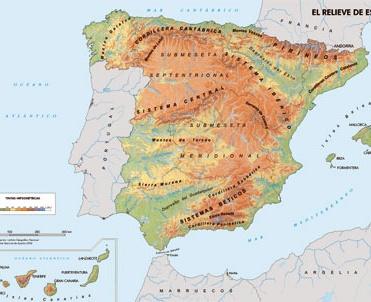 ESPAÑA MONTAÑAS Y CORDILLERAS