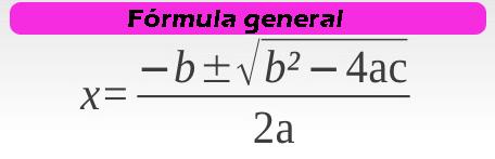 formula general