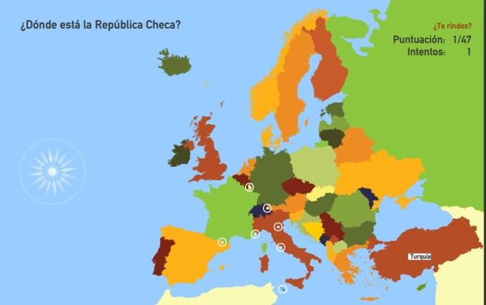 mapa países Europa