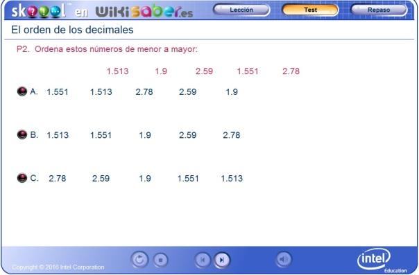 ordenar numeros decimales