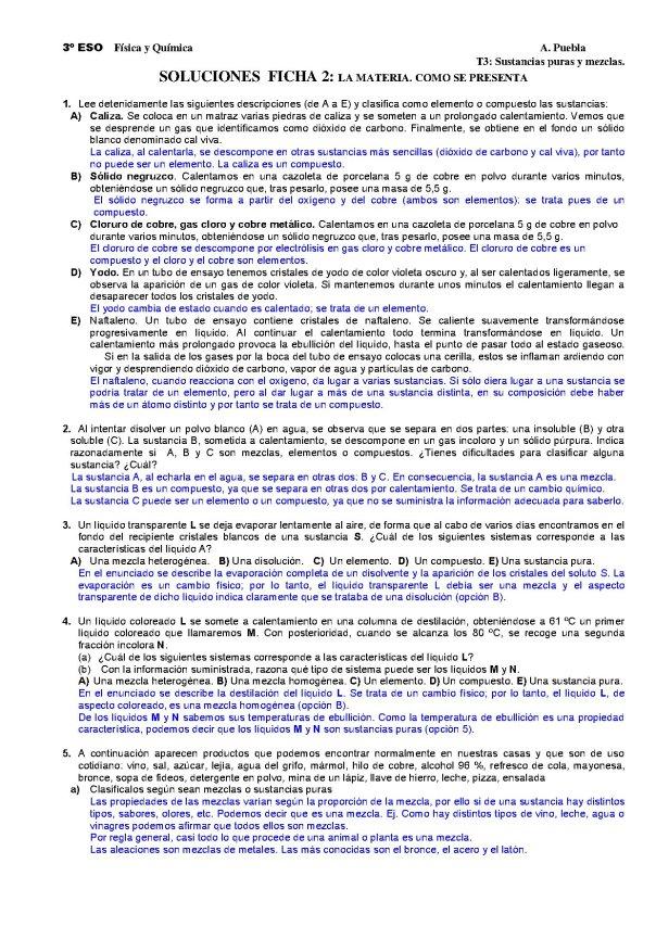 CLASIFICACIÓN DE LA MATERIA 1