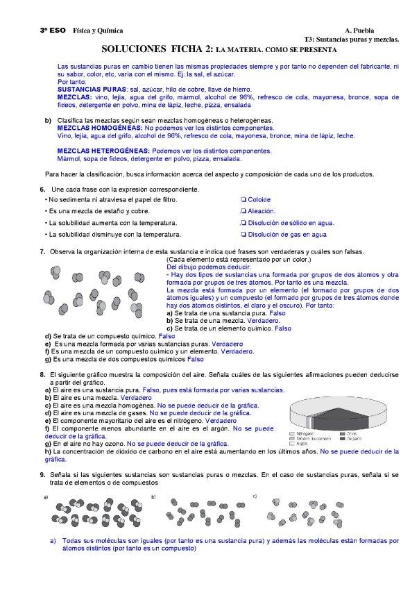 CLASIFICACIÓN DE LA MATERIA 2