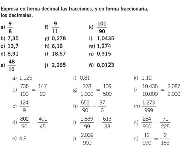 decimal a fraccion